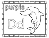Back to School Freebie #66-  Dolphin Color Pages - Preschool by Narcissa