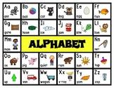 Back to School Freebie #67-  Alphabet Chart Mat Poster - Preschool by Narcissa