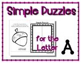 Back to School Freebie #69-  Simple Puzzles for A - Presch
