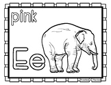 Back to School Freebie #74-  Elephant Color Pages - Presch