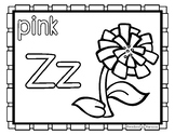 Back to School Freebie #77-  Zinnia Color Pages - Preschoo