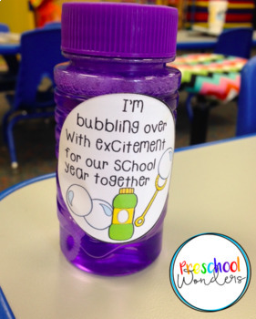 Back to School Freebie!  Bubble Labels