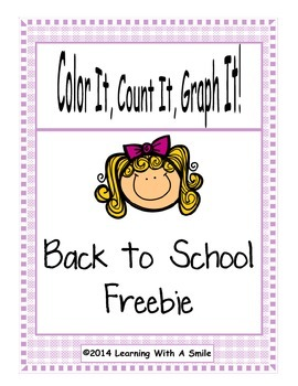 Back to School FREEBIE Color, Count, Graph It!