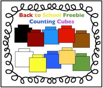 Back To School Freebie Counting Cubes Clipart For Math By