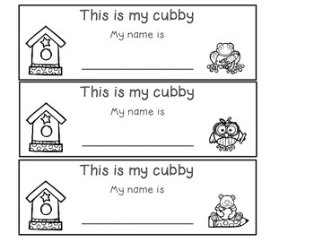 Back to School Freebie Cubby and Desk names