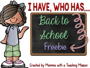 Back to School Freebie I have who has Game