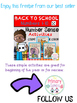 Back to School Freebie- Math Activity