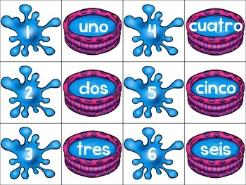Back to School Freebie Math Station Match Up Spanish