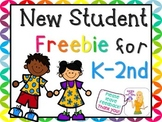 Back to School Freebie - My First Day and Welcome Sign