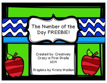 Back to School Freebie; Number of the Day CCSS Math
