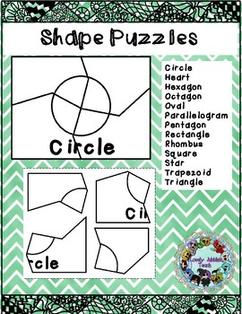 Back to School Freebie: Shape Puzzles