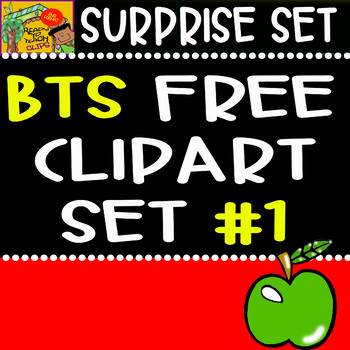 Back to School - Freebie - Surprise Clipart Set #1