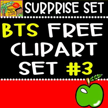 Back to School - Freebie - Surprise Clipart Set #3