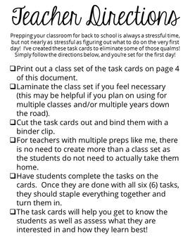 Back-to-School Freebie from The SuperHERO Teacher: Task Cards