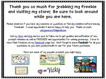 Back to School Freebie ~ icebreaker