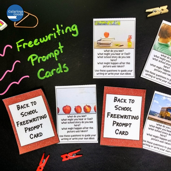 Back to School Freewriting Prompt Cards