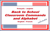 Back to School - French Audio Classroom Commands with Audio Alphabet