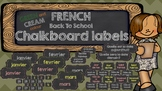 Back to School French CHALKBOARD labels