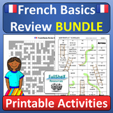 Beginner French Review End of Year Fun BUNDLE