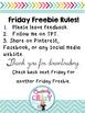 Back to School Friday Freebie