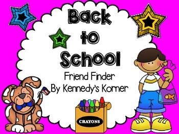 Back to School Friend Finder and Bookmarks!