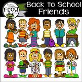 Back to School Friends Clip Art
