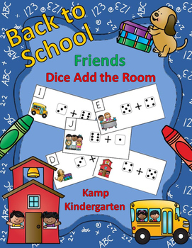 Back to School Friends Dice Add the Room Sums to 10