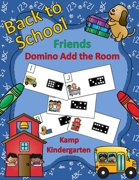 Back to School Friends Domino Add the Room Sums to 10