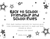 Back to School - Friendship and Rules