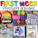 First Day of Preschool Lesson Plans Back to School Activities for a Week
