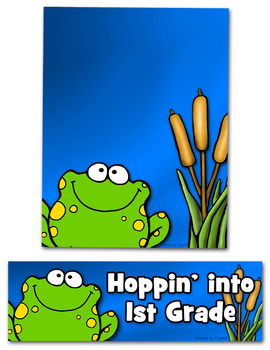 Back to School Frog Theme {Editable}