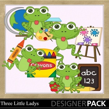 Back to School Frogs 1