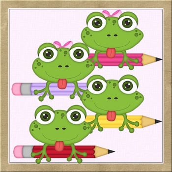 Back to School Frogs with Pencils