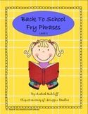 Back to School Fry Phrases