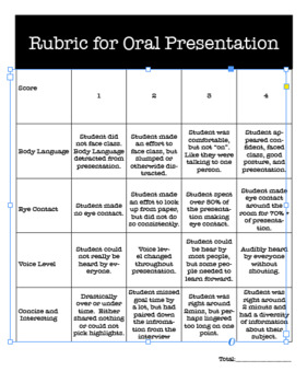 Back to School Full Week Activity -- Oral Presentation and Writing Sample