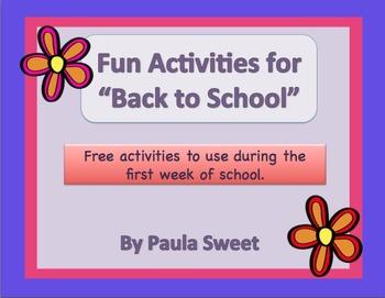 Back to School Fun Activities
