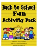 Back to School Fun Activities-5 Activities