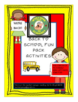 Back to School Wordsearch and Fun Activities Pack