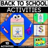 Back to School Activities   First Week of School Activities