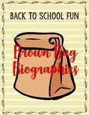 Back to School Fun: Brown Bag Activities