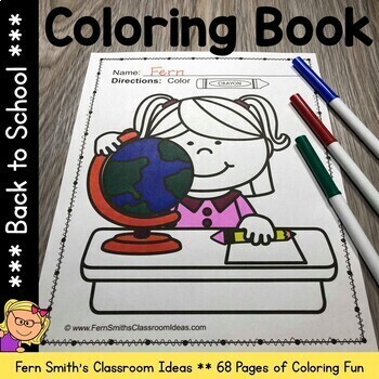 Top 20 Free Printable Back To School Coloring Pages Online | 350x350
