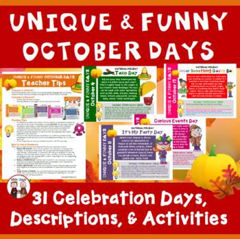 October Calendar Activities