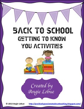 Back to School - Three Fun Getting To Know You Activities/Icebreakers
