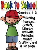 Back to School Fun: Math, Reading Passages, Centers, Writing Craftivity & Glyph