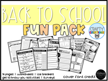 Back to School Fun Pack