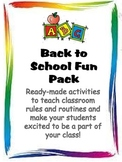 Back to School Fun Pack: Activities for the First Week of School