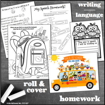 Back to School Fun Pack {for speech/language therapy or classroom fun!}