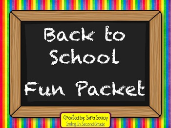 Back to School Fun Packet