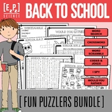 Back to School Puzzlers Bundle- No Prep! Print and Go!