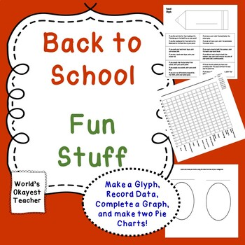 Back to School Fun Stuff: Make a Glyph, Data Collection, Graphing